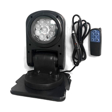 45W LED flashing light Searchlight with remote control and free installation of magnet base 360 degree rotation