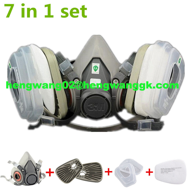 Suit Respirator Painting Spraying Face Gas Mask 5N11 For 3M 6200 Or Fitting