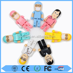 Personalized cartoon doctor usb flash drive with free logo