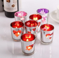 Glass Votive Candle Holders Wedding Tealight holder Centerpieces