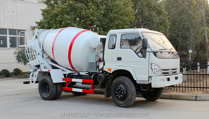 Foton forland small concrete mixer truck 3 cubic meters