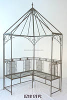 decorative Wrought Iron Garden Arbor with Bench