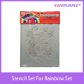 Stencil set,plastic stencil set,rainbow art set stencil set