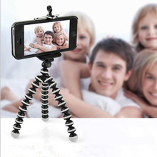 Flexible Mini Octopus Tripod phone Bracket Stand Mount Monopod With Screw For camera