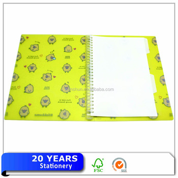 Plastic Spiral 26 Ring File Folder For Japanese