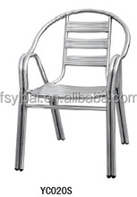 outdoor welding stainless steel double tube garden chair YC020s