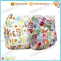 Free Shipping 2015 Babyland New Arrival Printed Charcoal Bamboo Cloth Diaper