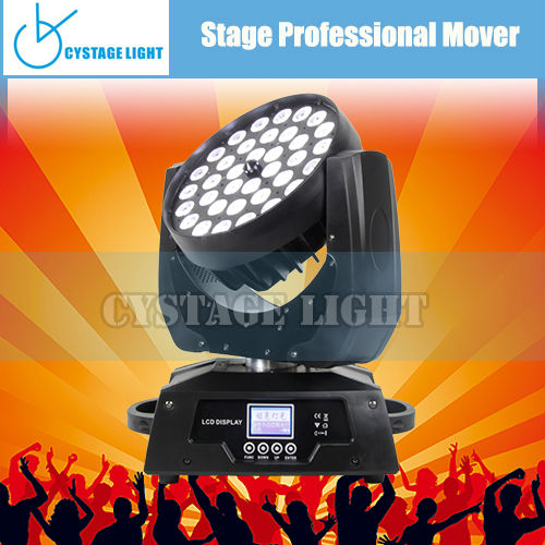 36 X 10W Triangle Programs Wash Moving Head LED Light