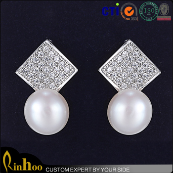 Fashion Trendy Pearl Earring Ball Stud Earrings For Girls Design