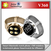 Android watch phone Smart bluetooth watch phone v360 stainless wristwatch phone Smartwatch for iPhone6 Samsung