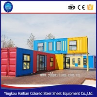 Move-in Strong steel frame prefab shipping container house/prefabricated container house price
