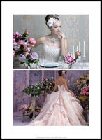 FL-0003 Luxurious High Quality Coloured Dress With Embroidery Decoration Wedding Dress