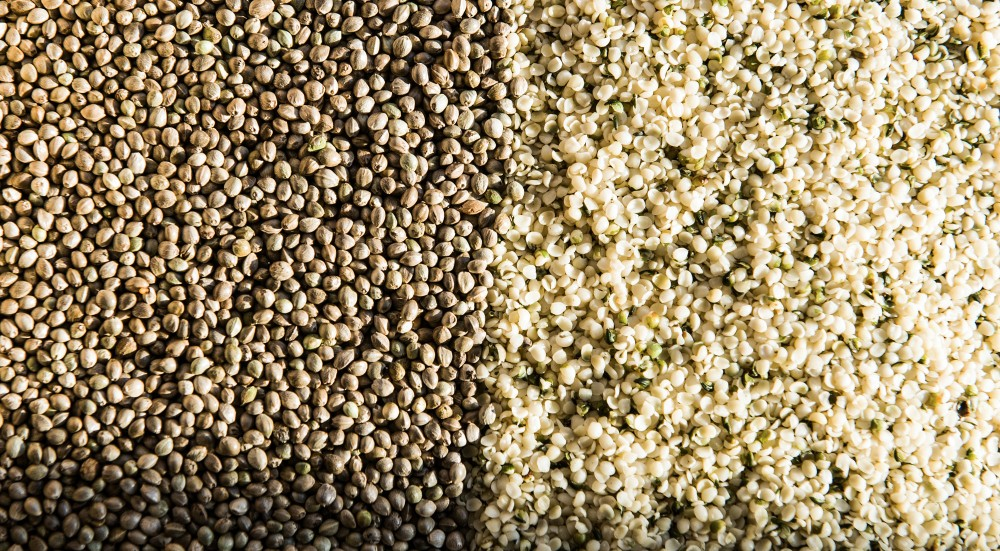 Organic dehulled hemp seeds