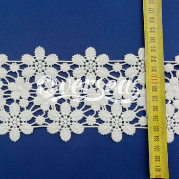 Unique design for embroidered net lace for clothing