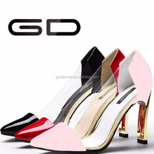 Wholesale fashion women leather or PU dress pumps shoes
