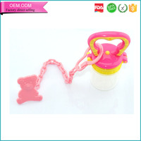 China supplier animal nipple clip bpa free plastic baby teether chain