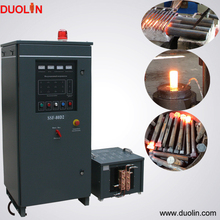 Induction heating machine for forging hot forge bolt