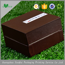 OEM logo printed brown tea gift box with lid cheap luxury guangzhou ski jacket pants boots gloves paper package wholesale