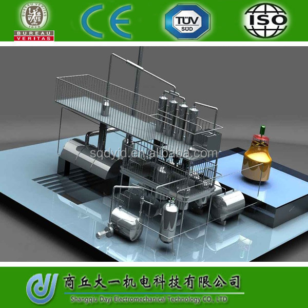 Distillation Plant For Black Oil And Crude Oil And Pyrolysis Oil