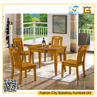 Small solid wood dining table furniture with drawer