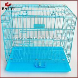Folding steel dog cages,dog crate,dog kennel with plastic tray
