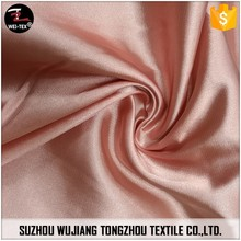 96% polyester 4% spandex shinner silk stretch satin fabric for dress