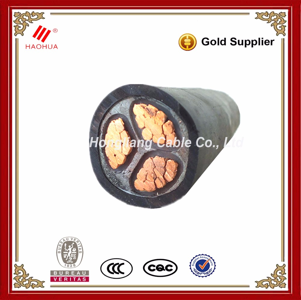 No.1517 - TUV & CB NYY 3 core power cable 3x70mm2 600/1000v iec 60502-1 CU / PVC / PVC Electrical power cable 70mm2 cable