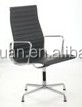 D355B#Heated stainless steel frame modern leather office meeting chair for reception