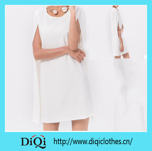 2014 fashion new design ladies side slit white dress skirt