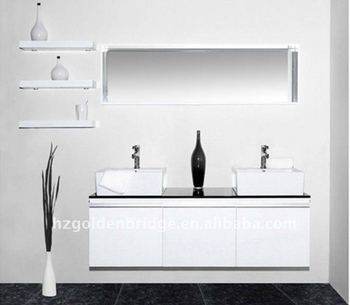 "58"" Bathroom Modern Furniture with Marble countertop & Double Sink ES8410"
