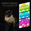 2017 Latest color for Soft Cat nail caps Pet claw cover With Free Adhesive 20 pcs/4 Size Of XS S M L