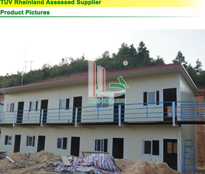 Two Layers China Prefabricated Steel Frame Homes House