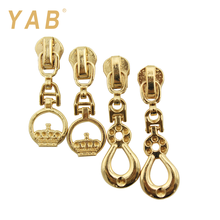 YAB Factory Direct Reversible Luggage Custom Size Metal Zipper Puller Slider