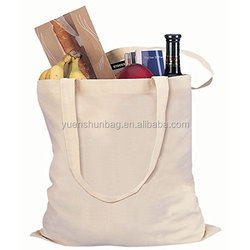 cotton Natural Color Reusable Cotton Shopping Tote Bag