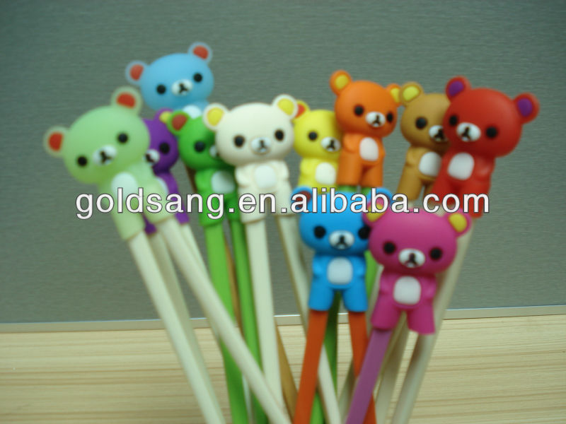 animals learning chopsticks/children training silicone chopsticks holder
