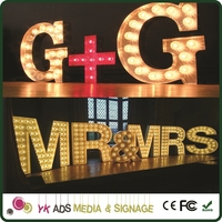 Customized Letter Sign light up