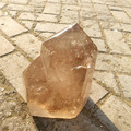 large natural smoky quartz crystal point