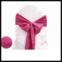 wholesale wedding sashes tie chair cover bow taffeta crinkle chair sash size