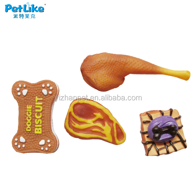 dog toy with squeaker bone chicken leg and sandwich Unique pet products wholesale tiny toy for puppy