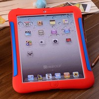 New design shock proof customize color rubber case for ipad 4