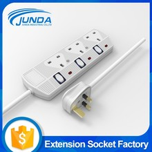 Top quality hot selling 13amp socket with usb industria electric switch bangladesh 3-way power socket outlet