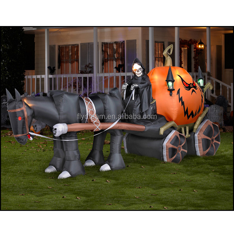 Hot Sell Inflatable Halloween coach, Halloween Inflatable Yard Decorations Giant Halloween Inflatable Car For Sale