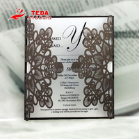 2015 Hot Sale Laser Cut Wedding Invitation Cards, Latest Wedding Invitation Lace for Wedding Favors fc-016
