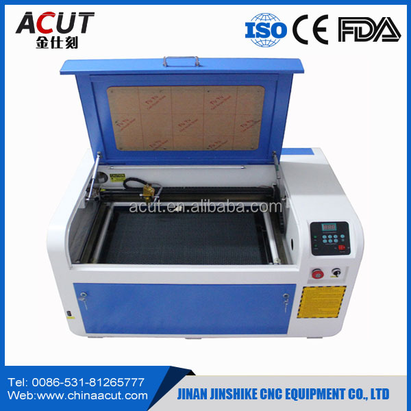 Jinan ACUT-6040 Small Co2 Laser Cutter /2d Wood Marble Granite Laser Engraving Machine