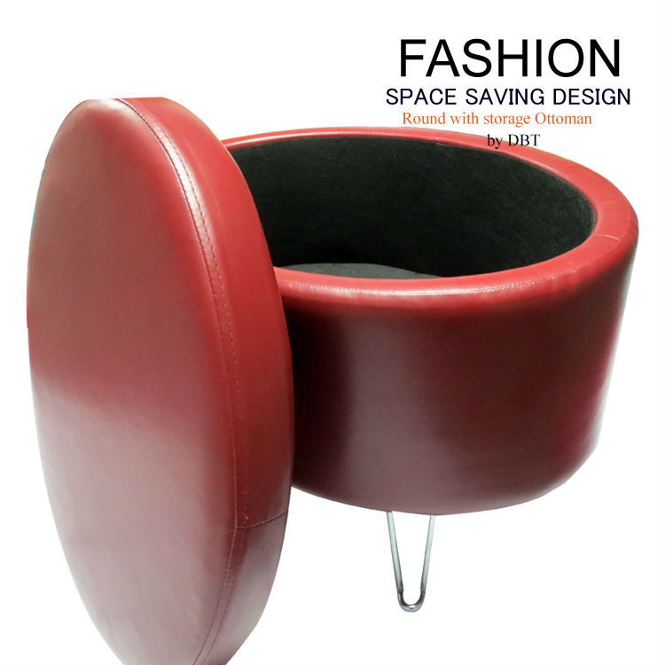 2013 New arrival fashionable Round with storage Ottoman