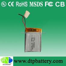 Customized high power 4.2v battery 1200mah