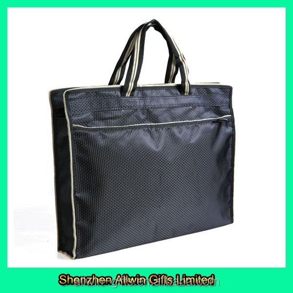 Waterproof high quality zipper top handle style student briefcase