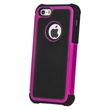 Hybrid Layer Football Dot Design Silicone + Plastic Hard Case For iPhone 5 5G