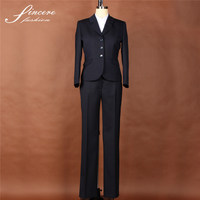 Ladies Wool Polyester Blazers Women Suits