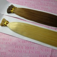 8-30 Inch Blond 100 Keratin Tipped Human Hair Extension I Tip Brazilian Hair Extension